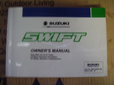 suzuki Swift owners handbook 99011-80E02-02E