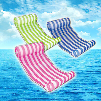 Summer Beach Swimming Floating Mat Mattress Lounge Bed Chair Water Hammock Pool