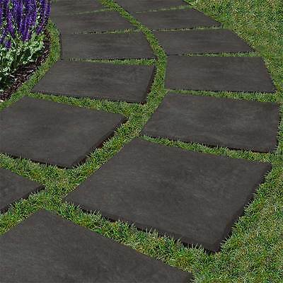 Recycled Rubber Stepping Stone - Stomp Stone - Walkway Path Paving - 4 PACK
