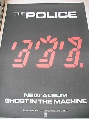 """The Police """" Ghost In The Machine"""" Album Advert From 1981 A3"""
