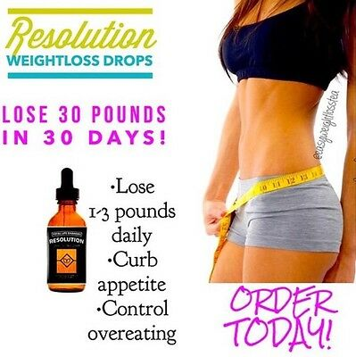 """RESOLUTION DROPS """"Weight Loss, Diet Drops, TLC"""" Lose 1-2lbs Daily"""
