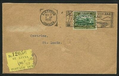 St Lucia 1932, Cover from Jamaika to St Lucia