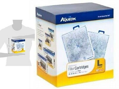 Aqueon 06419 Filter Cartridge, Large, 12-Pack, New, Free Shipping