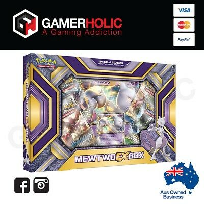 Pokemon TCG Mewtwo EX Box Collection Box Brand New IN STOCK