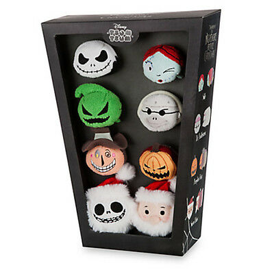NEW Disney Parks Store NIGHTMARE BEFORE CHRISTMAS Tsum Coffin Box Set Of 8 Plush
