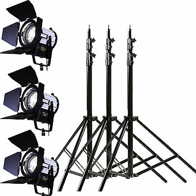 Foco regulable de 3 x 70W LED Fresnel Spot continuo foco luz Daylight KIT