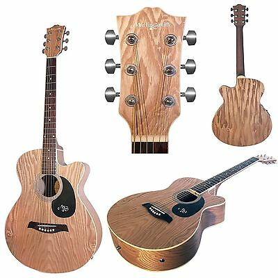 Martin Smith Electro Acoustic Natural Matt Willow Wood Guitar