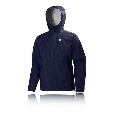 Helly Hansen Loke Hombre Azul Impemeable Running Sudadera Capucha Chaqueta Top