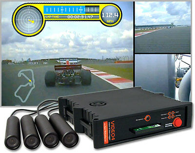 Race Technology VIDEO4+GPS 4 Camera System with 20Hz GPS Upgrade and Widescreen