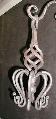 Wrought Iron Spider,S-Hook Hanger,with 8 Hooks,Hand Forged by Blacksmiths