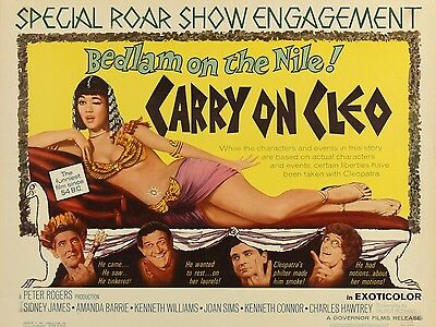 """Carry on Cleo 1964 16"""" x 12"""" Reproduction Movie Poster Photograph 2"""