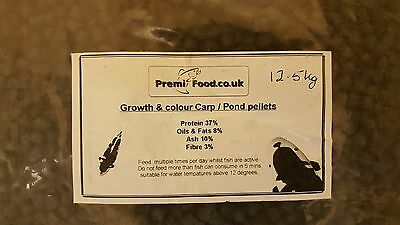 Fish food Bag Growth & Colour Carp / Pond Pellets 12.5 kg Bag
