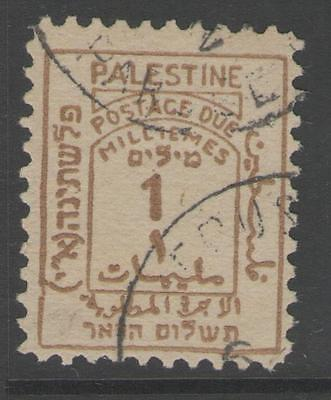 PALESTINE SGD1 1923 1m YELLOW-BROWN USED