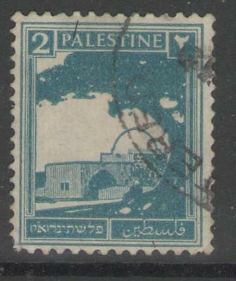 PALESTINE SG90 1927 2m GREENISH BLUE USED