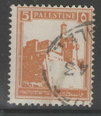 PALESTINE SG93 1927 5m ORANGE FINE USED
