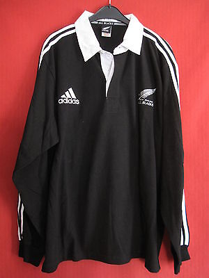 Maillot ALL BLACKS New Zealand Adidas vintage 100% Coton Rugby Jersey - XL