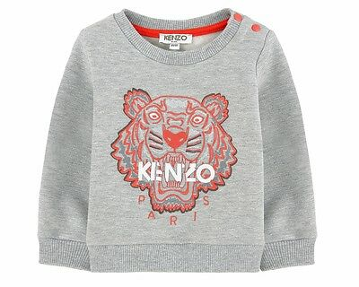 Kenzo Baby Arnaud KI15557 20 Tiger Jumper Boys Girls Sweatshirt Grey