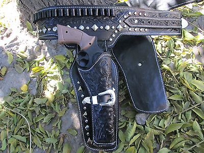 D.A.D CUSTOM LEATHER Hollywood Western Double Holster The Lone Ranger inspired