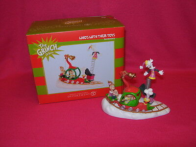 Department 56 WHO'S WITH THEIR TOYS Grinch village Dr. Seuss BRAND NEW IN BOX