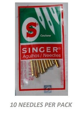 10 x GENUINE SINGER SEWING MACHINE NEEDLES Size 110/18 HEAVY STRONG THICK 2020