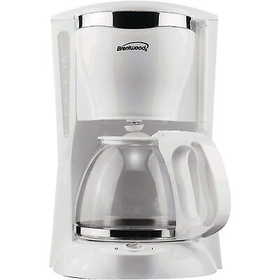 Brentwood TS-216 12 Cup Coffee Maker - White