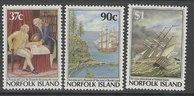 NORFOLK ISLAND SG433/5 1987 BICENTENARY OF SETTLEMENT 4th ISSUE MNH