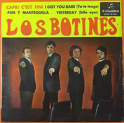"""Los Botines I Got You Babe Spain Orig  Mod Freakbeat  7"""" Ps Ep"""