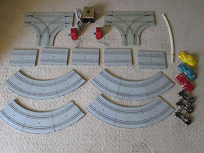 AC Gilbert 1/32 Scale Track and Parts Set, Transformer, Cars, Chassis, Etc.