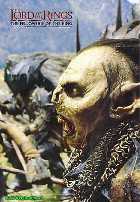 MOVIE POSTER~The Fellowship of Ring Orcs Original Film Theater Sheet 27x38 New~1
