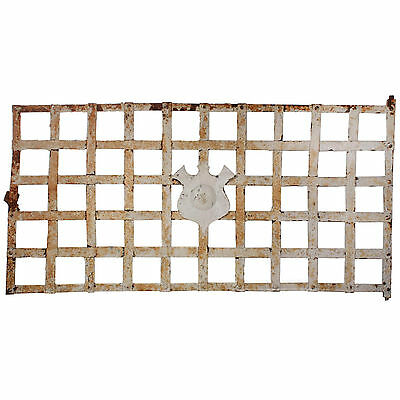 Antique Window Guard with Shield, NWNG69