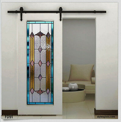 Beautiful  Stain Glass  Interior  Doors  Hinged Pocket or Barn type