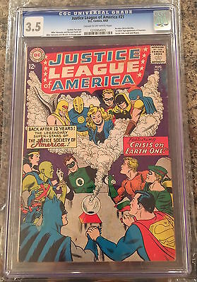 JUSTICE LEAGUE OF AMERICA #21 CGC 3.5 cream / off-white pages CANADA SELLER