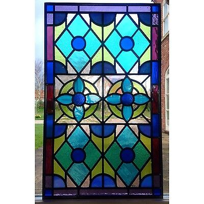 Hand Crafted Stained Glass Window Door Panels, Made To Order, Large Panel