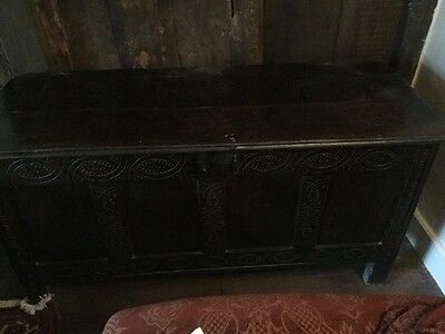 Antique Oak Coffer (West Country) circa 17th Century