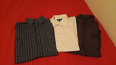 3x Mens shirts NEXT RIVER ISLAND - IMMACULATE CONDITION - SIZE LARGE