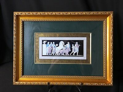Ancient Roman Animal Masters & Scholars Picture Teal & Gold Matte Custom Frame#1