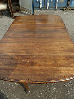 Antique Edwardian solid oak gateleg dining table with beautiful patina