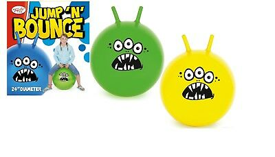 """24"""" Jump N Bounce Space Hopper 2016 With 3 Eyes - Blue, Yellow or Green"""