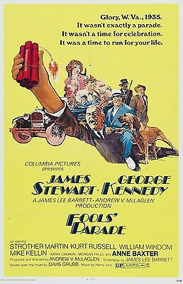 16mm Feature FOOLS PARADE-1971. James Stewart action comedy.