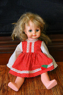Vogue Doll w/ Dress and Underwear Strawberry Red As Is Eyes Open and Close