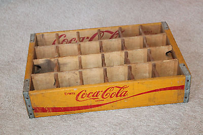Coca Cola Bottle Crate Vintage Wooden Caddy Carrier Advertising 24 Slot 1978
