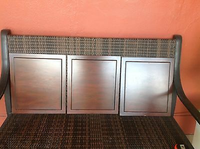 Set of 3 Wooden Architectural Panel Doors In Wood Dark Tone