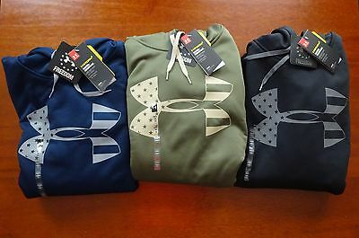 Under Armour Men's Tactical Freedom Storm Tonal Big Flag Logo Hoodie NWT