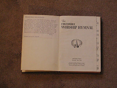 The Cokesbury Worship Hymnal, by Abingdon Press, 1966 Printing, Hard Cover