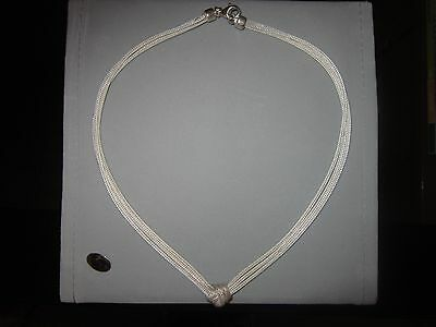 Sterling Silver Delicate Braided Choker