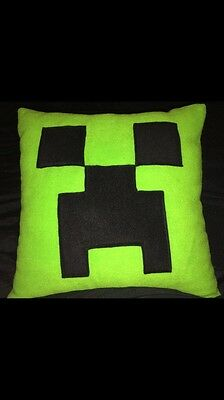 Soft Fleece Minecraft creeper, cushion / pillow, cover only