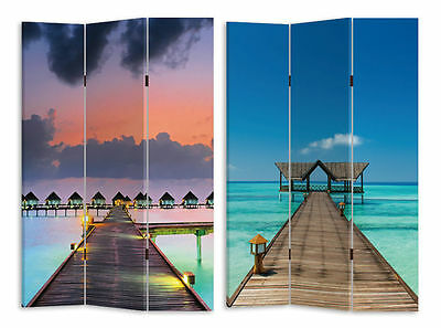 Large 3 Panels Pier Room Divider / Screen