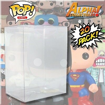 "20 Premium .40Mm 4"" Funko Pop Box Cystal Clear Protector Case Protective Cover"