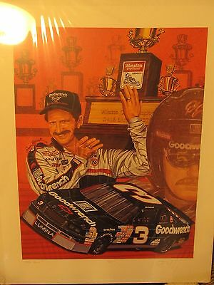 """Dale Earnhardt """"Take Five"""" Sam Bass Print 1/500 The First One Printed Ultra Rare"""
