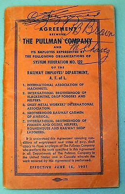(1) 1951 agreement between Pullman Company & its employees - Railroads